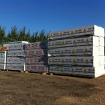 Large inventory of dimensional lumber