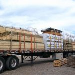 Lumber trusses ready for shipping