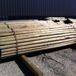 Pressure treated rails
